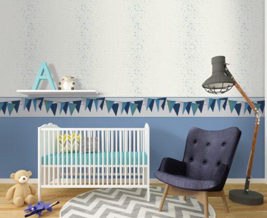 baby room, nursery, interior, 3d render
